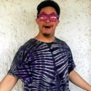 Josh with purple glitter stars