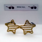 Gold shutter style stars front
