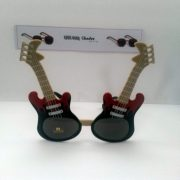 Red and black guitars front