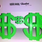 Jumbo green dollar sign shades