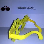 Jumbo yellow dollar sign shades