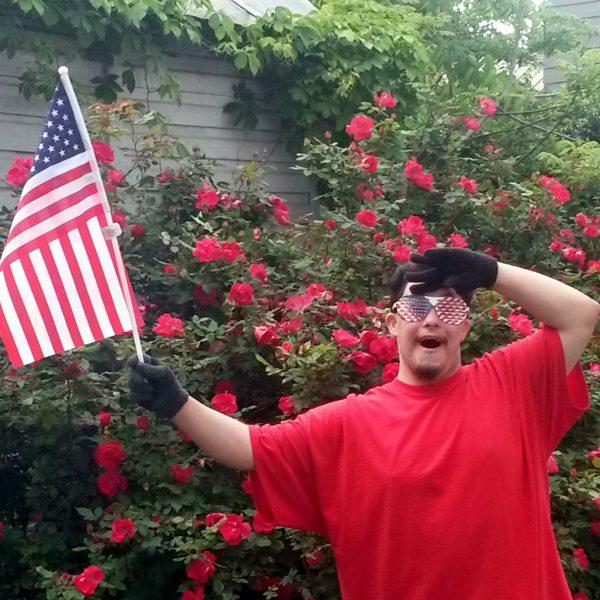 Patriotic Shutter Shades