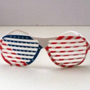 Patriotic shutter shades front