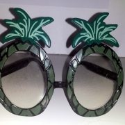 Rock lobster luau pineapple glasses front