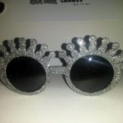 Silver Glitter Crowns Front