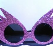 Light pink lightening glasses on Rock Star Shades