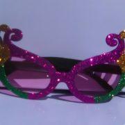 Mardi Gras Wings glasses on Rock Star Shades